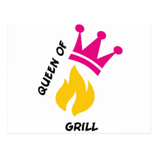 Queen of Grill Postcard