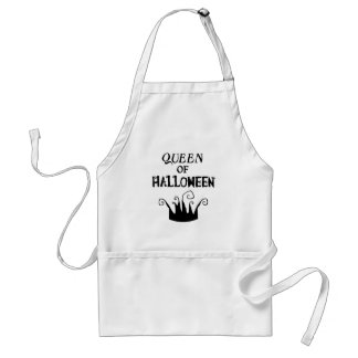 Queen of Halloween Adult Apron