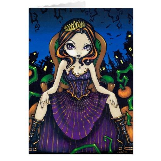 """Queen of Halloween"" Greeting Card"