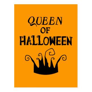 Queen of Halloween Postcard