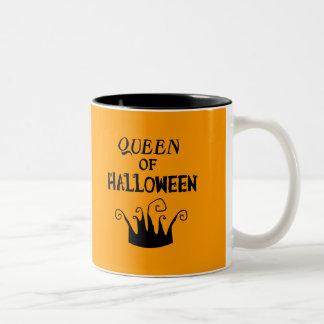 Queen of Halloween Two-Tone Coffee Mug