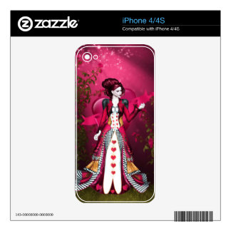 Queen of Heart Skins For The iPhone 4