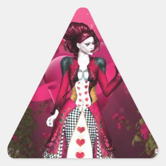Queen of Heart Triangle Sticker