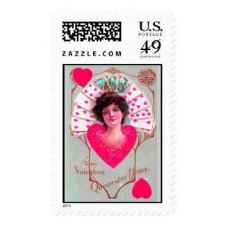 QUEEN OF HEART ,Valentine's Day Postage Stamps
