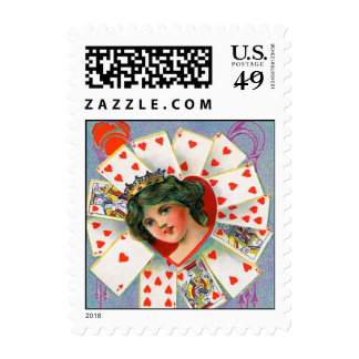 QUEEN OF HEART ,Valentine's Day Stamps