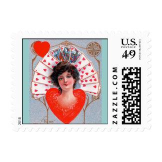 QUEEN OF HEART ,Valentine's Day Stamp