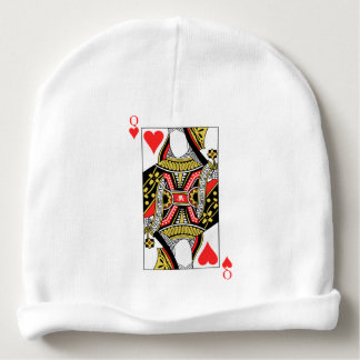 Queen of Hearts - Add Your Image Baby Beanie