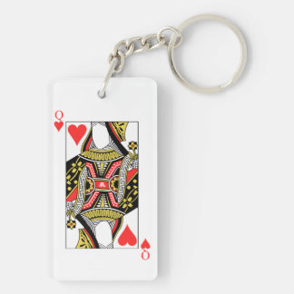 Queen of Hearts - Add Your Image Keychain
