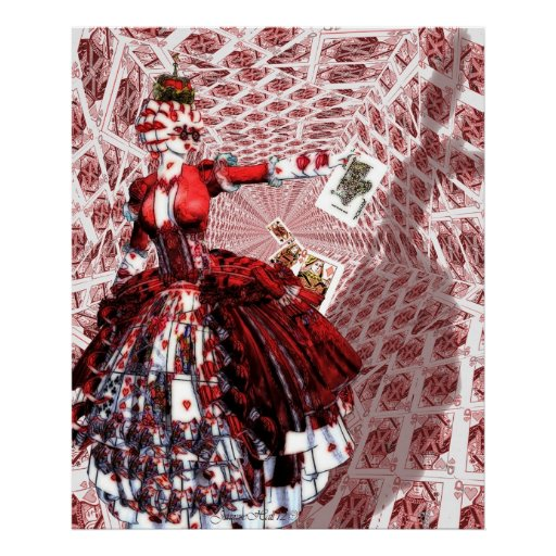 Queen of Hearts (Alice-in-Wonderland) Poster