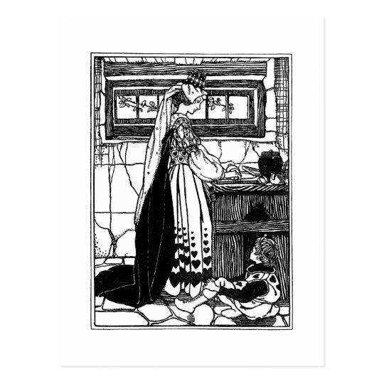 Queen of Hearts Baking Tarts Postcard
