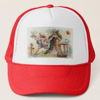 Queen of Hearts Bemoans Stolen Tarts Trucker Hat