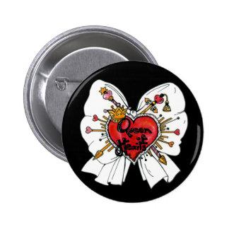 Queen of Hearts Button