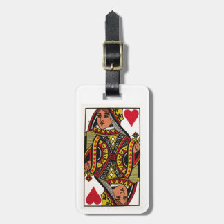 Queen of Hearts Card Luggage Tag