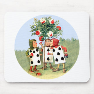 Queen of Hearts' Cardmen Paint the Queens Roses Mouse Pads