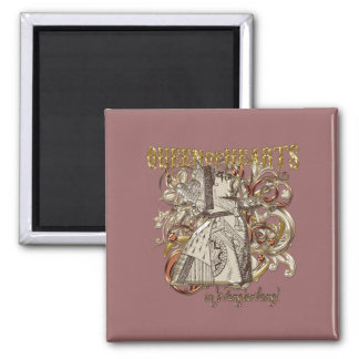 Queen of Hearts Carnivale Style (Gold Version) Fridge Magnets