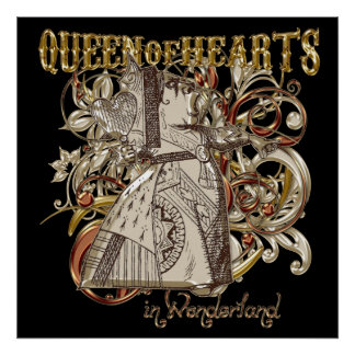 Queen of Hearts Carnivale Style (Gold Version) Poster