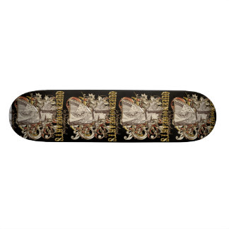Queen of Hearts Carnivale Style (Gold Version) Skateboard