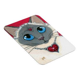 Queen of Hearts Cat Art Premium Magnet
