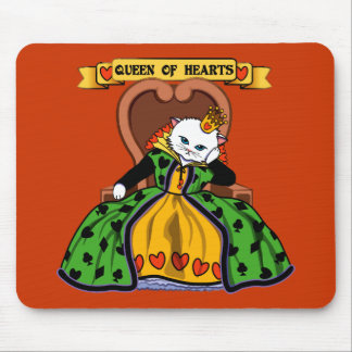 Queen of hearts cat mouse pad