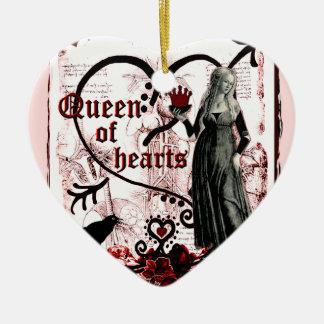 Queen of Hearts Ceramic Ornament
