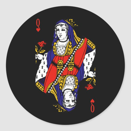 Queen of Hearts Classic Round Sticker