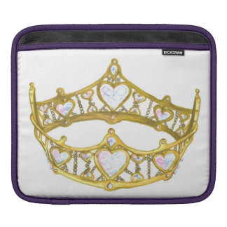 Queen of Hearts crown iPad sleeve