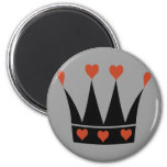 Queen of Hearts Crown Magnets