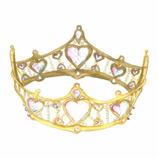 Queen Of Hearts Crown Photo Sculpture Pin Brooch