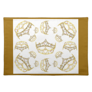 Queen Of Hearts Crown Tiara Placemat