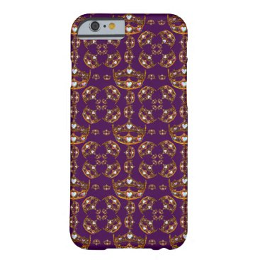 fabricatedframes Queen of Hearts crowns & tiaras purple iphone case