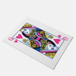 Queen of Hearts Doormat