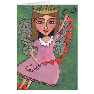 Queen of Hearts Fairy - greeting card