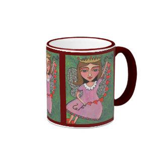 Queen of Hearts Fairy - mug (ringer)