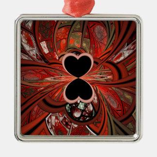 Queen Of Hearts Fractal Ornaments