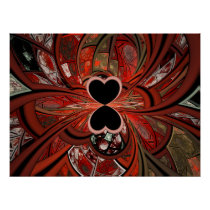 Queen Of Hearts Fractal Poster