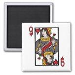Queen of Hearts Fridge Magnet