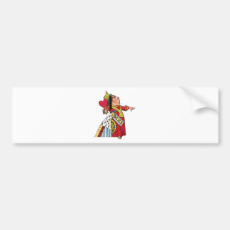 Queen of Hearts from Alice in Wonderland Car Bumper Sticker