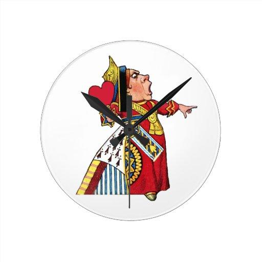 Queen of Hearts from Alice in Wonderland Clock