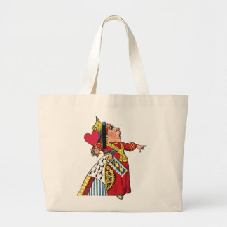 Queen of Hearts from Alice in Wonderland Large Tote Bag
