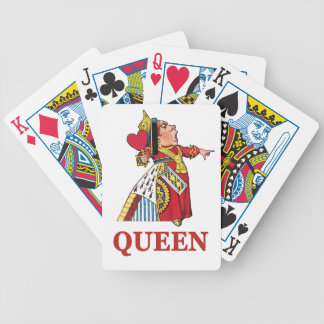 Queen of Hearts From Alice in Wonderland Bicycle Playing Cards