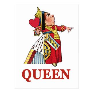 Queen of Hearts From Alice in Wonderland Postcard