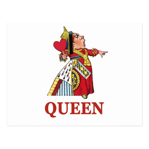 Queen of Hearts From Alice in Wonderland Post Cards