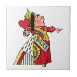 Queen of Hearts from Alice in Wonderland Ceramic Tile