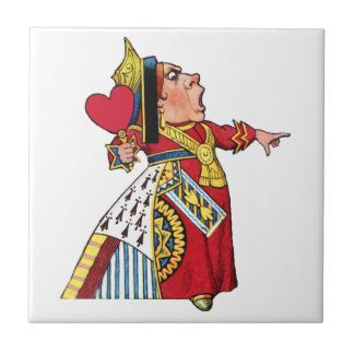 Queen of Hearts from Alice in Wonderland Small Square Tile