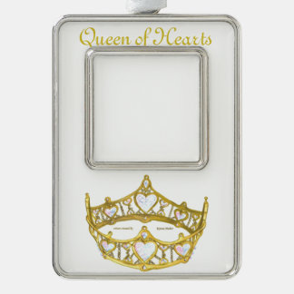 Queen of Hearts gold crown photo frame ornament