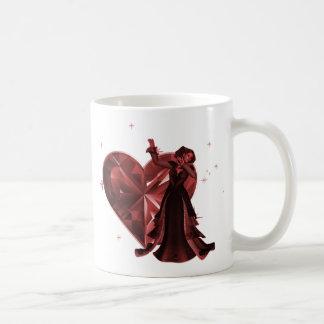 Queen Of Hearts & Heart Jewel - Red Coffee Mug