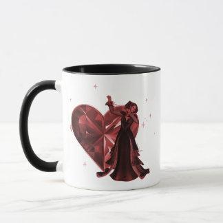 Queen Of Hearts & Heart Jewel - Red Mug
