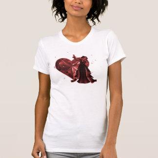 Queen Of Hearts & Heart Jewel - Red T-shirt