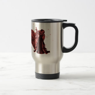 Queen Of Hearts & Heart Jewel - Red Travel Mug