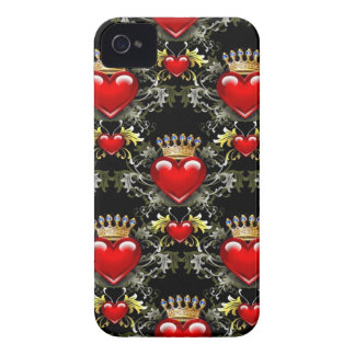 Queen of Hearts II iPhone 4 Case